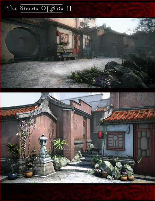 The Streets Of Asia 2 by: Stonemason, 3D Models by Daz 3D