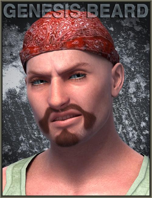 Genesis Beard by: Cris PalominoWillDupre, 3D Models by Daz 3D