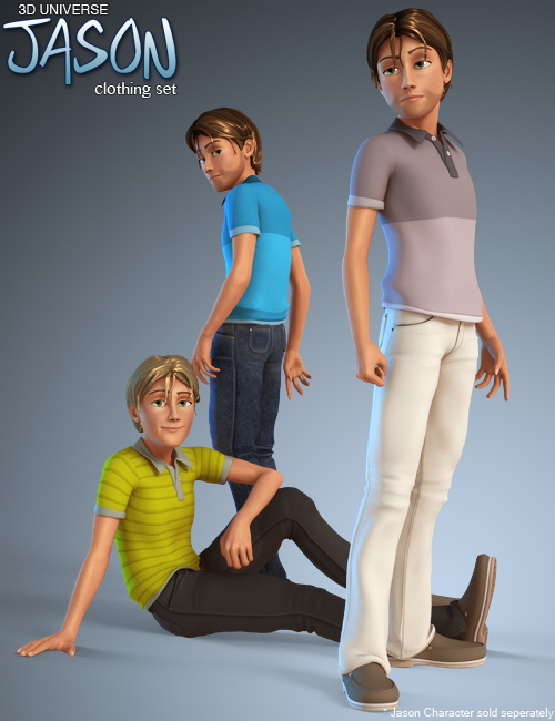 Jason for Genesis (Clothing) by: 3D Universe, 3D Models by Daz 3D