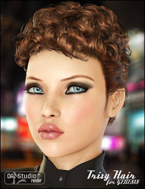 Trixy Hair for Genesis by: goldtasselRavenhair, 3D Models by Daz 3D