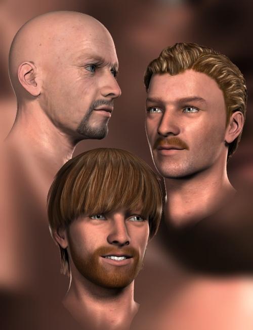 Short Beard for Genesis by: blondie9999, 3D Models by Daz 3D
