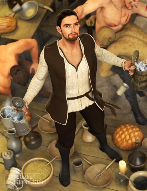 Tavern Keeper by: Barbara Brundon, 3D Models by Daz 3D