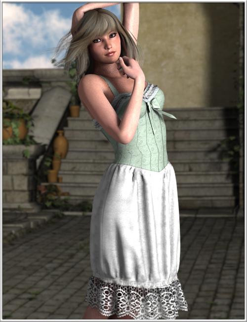 Corset Dress for V5 by: OptiTex, 3D Models by Daz 3D