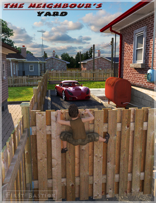 The Neighbour's Yard by: FirstBastion, 3D Models by Daz 3D