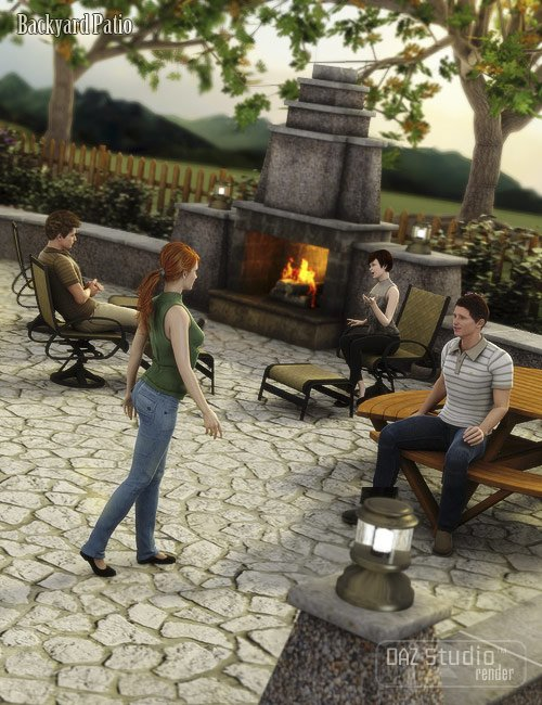 The Backyard by: ARTCollab, 3D Models by Daz 3D