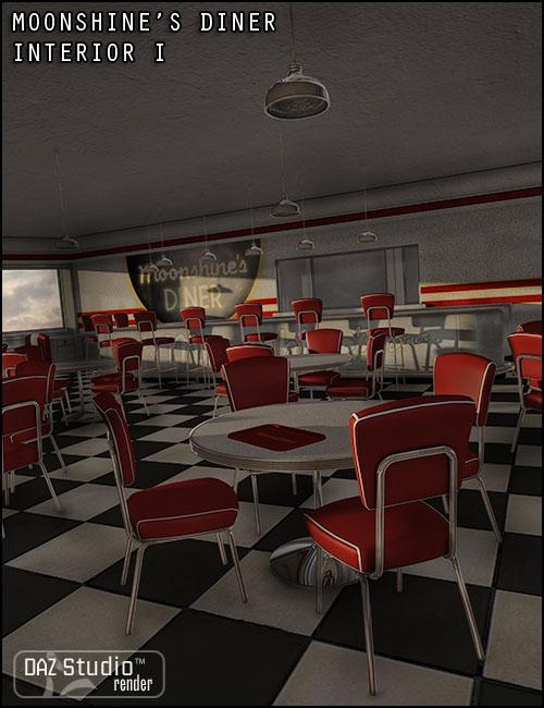 Moonshine's Diner Interior I by: Jack Tomalin, 3D Models by Daz 3D