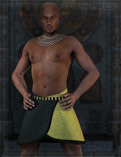 Dark Priest Poses for M5 by: Renderwelten, 3D Models by Daz 3D