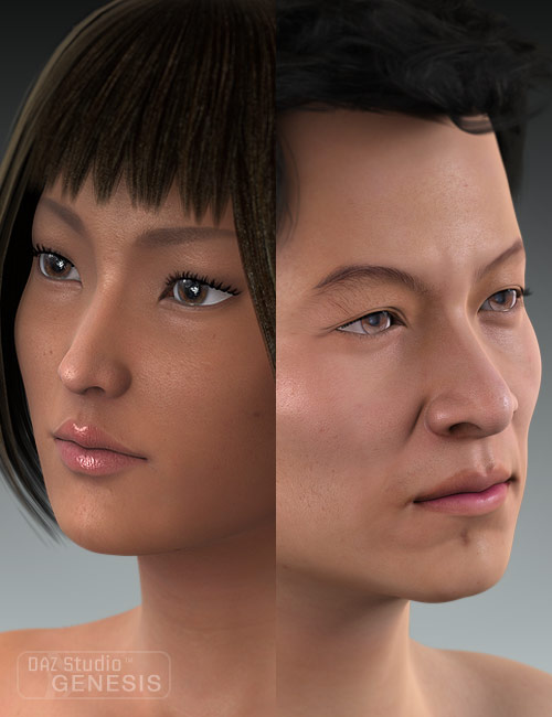 Ethnicity for Genesis: Asian by: , 3D Models by Daz 3D