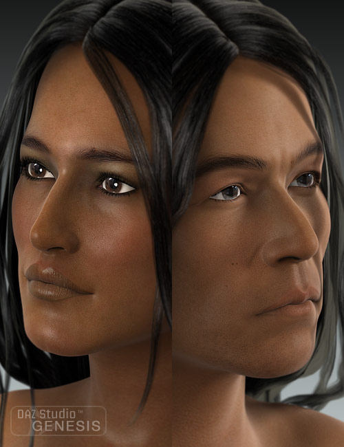 Ethnicity for Genesis: Native American by: , 3D Models by Daz 3D