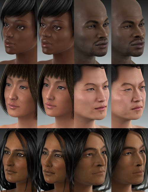 Ethnicity for Genesis Bundle by: , 3D Models by Daz 3D