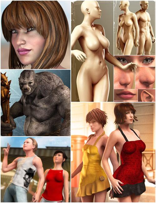Genesis Starter Bundle by: , 3D Models by Daz 3D