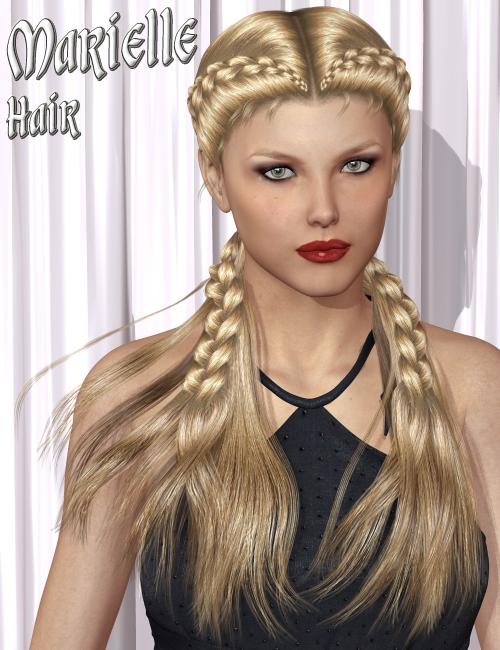 Marielle Hair by: 3DreamMairy, 3D Models by Daz 3D