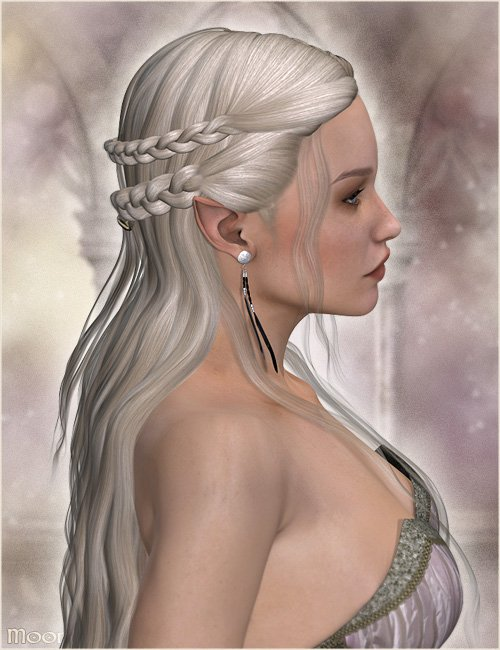 Moonsong Hair by: Valea, 3D Models by Daz 3D