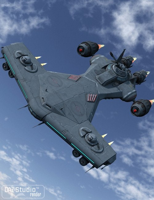 Starship Sky Hammer by: petipet, 3D Models by Daz 3D