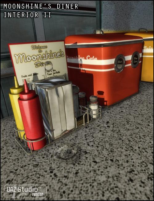 Moonshine's Diner Interior II by: Jack Tomalin, 3D Models by Daz 3D