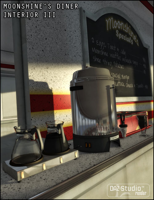 Moonshine's Diner Interior III by: Jack Tomalin, 3D Models by Daz 3D