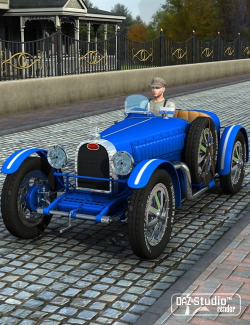 Grand Prix Racing Car 1926 by: petipet, 3D Models by Daz 3D