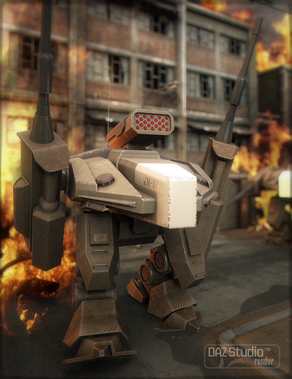 MW87 Ogre Mecha by: Valandar, 3D Models by Daz 3D