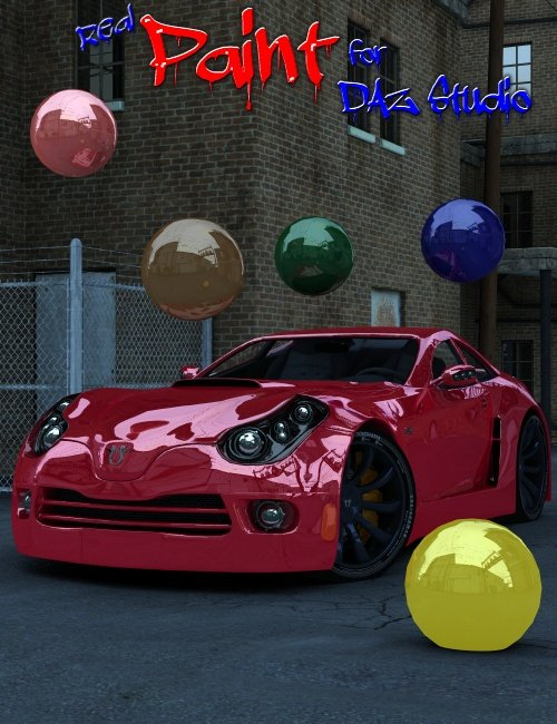 Real Paint for DAZ Studio by: DzFire, 3D Models by Daz 3D