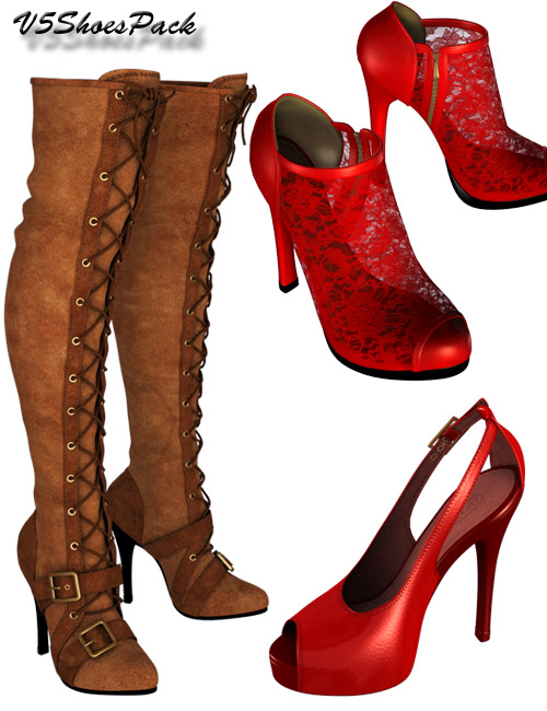 V5 Shoe Pack by: dx30, 3D Models by Daz 3D