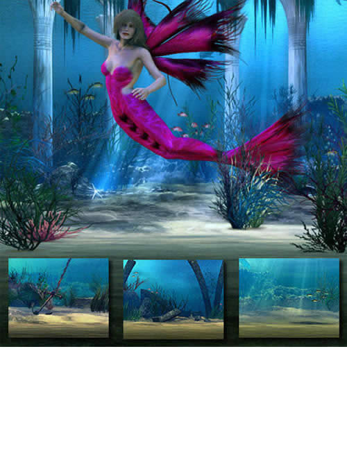 Heart Of The Ocean for the Multiplane Cyclorama by: LaurieS, 3D Models by Daz 3D