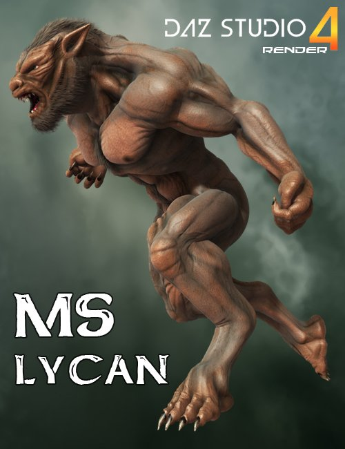 MS Lycan by: midnight_stories, 3D Models by Daz 3D