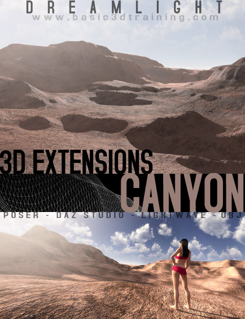 3D Extensions  Canyon by: Dreamlight, 3D Models by Daz 3D