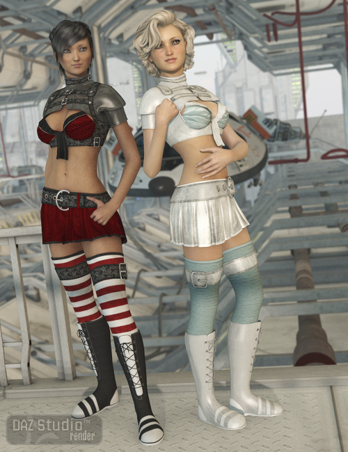 Genesis Scifi Academy Textures by: Sarsa, 3D Models by Daz 3D