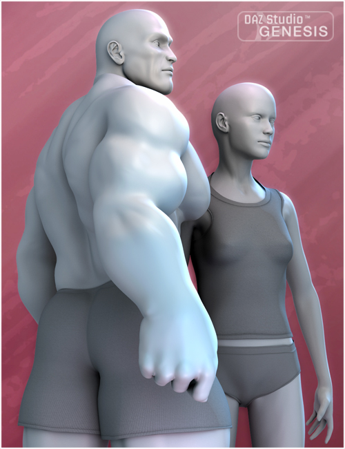 Stephanie 3 and FREAK Shapes for Genesis by: , 3D Models by Daz 3D
