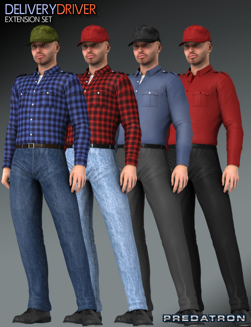 Delivery Driver Extension by: Predatron, 3D Models by Daz 3D