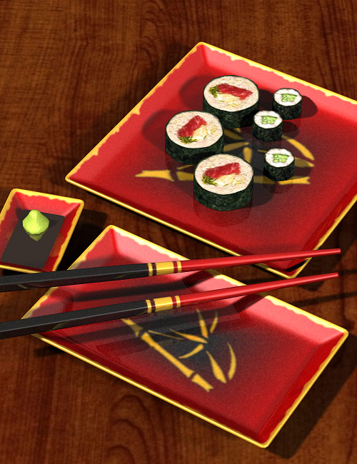 Sushi Time One by: blondie9999, 3D Models by Daz 3D