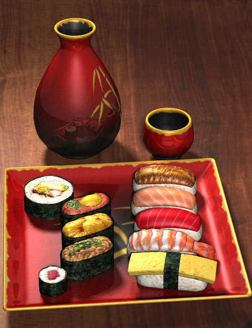 Sushi Time Two by: blondie9999, 3D Models by Daz 3D