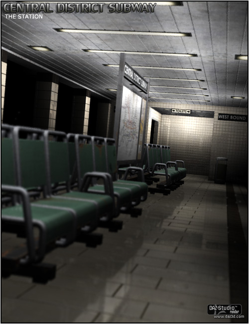The Central District Subway Station by: ForbiddenWhispersFWDesign, 3D Models by Daz 3D