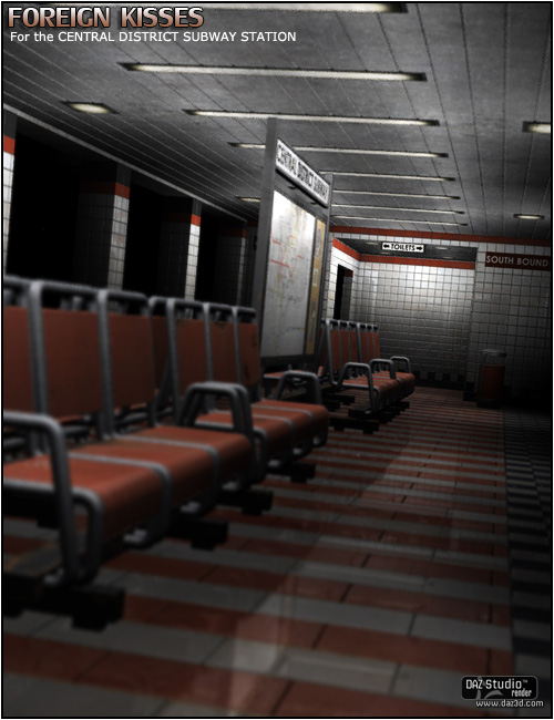 Foreign Kisses Central District Subway Station by: ForbiddenWhispers, 3D Models by Daz 3D