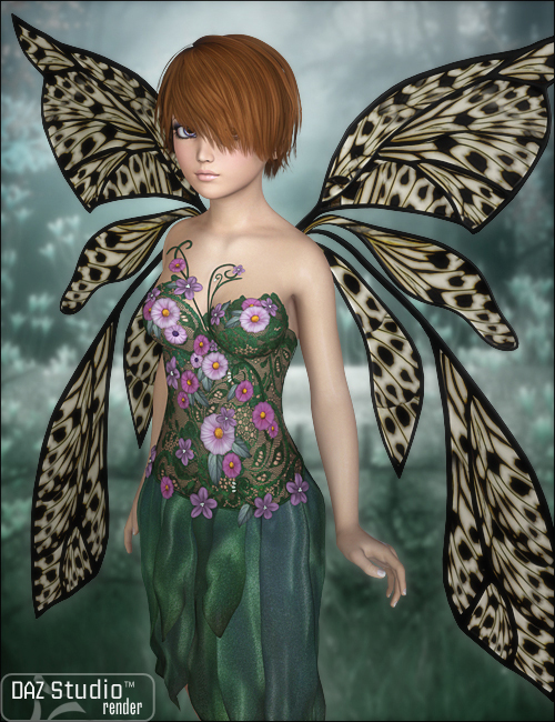 Faery Wings by: JessaiiSWAM, 3D Models by Daz 3D