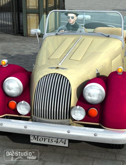 Sports Car Morris 1936 by: petipet, 3D Models by Daz 3D