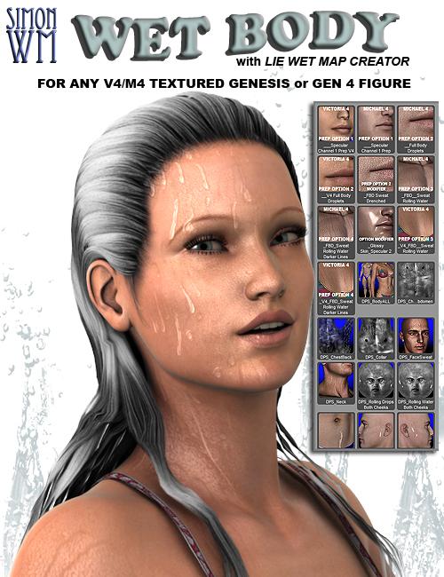 Wet Body by: SimonWM, 3D Models by Daz 3D