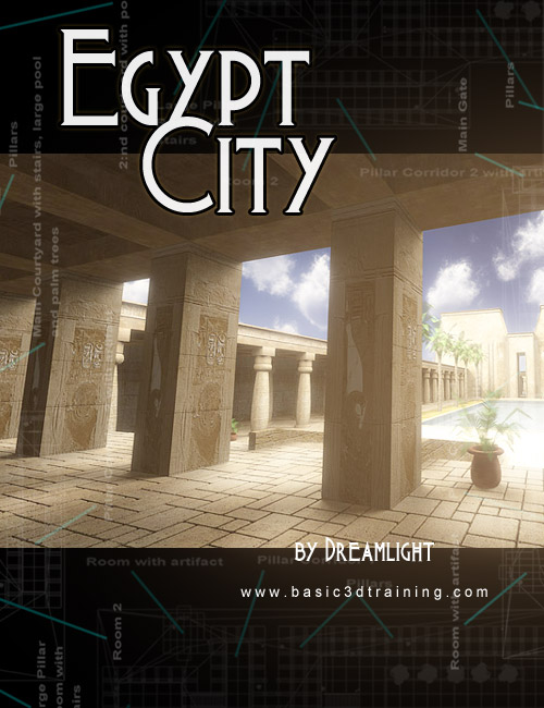 Egypt City for DS by: Dreamlight, 3D Models by Daz 3D