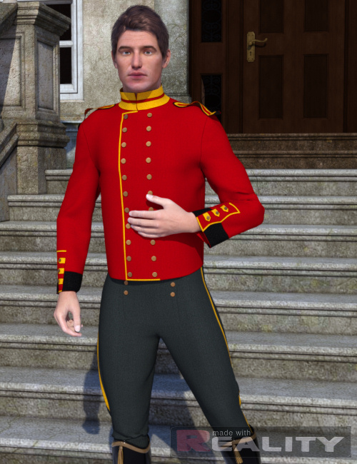 Dynamic Uniforms for  Michael 4 Genesis by: KhoryOptiTex, 3D Models by Daz 3D