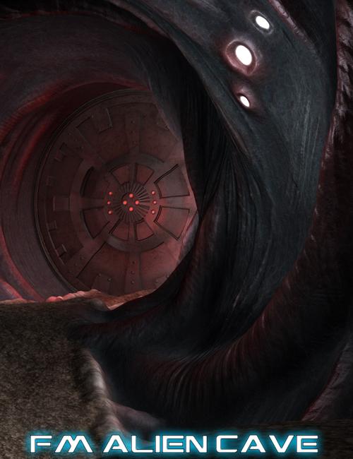 Alien Cave by: Flipmode, 3D Models by Daz 3D