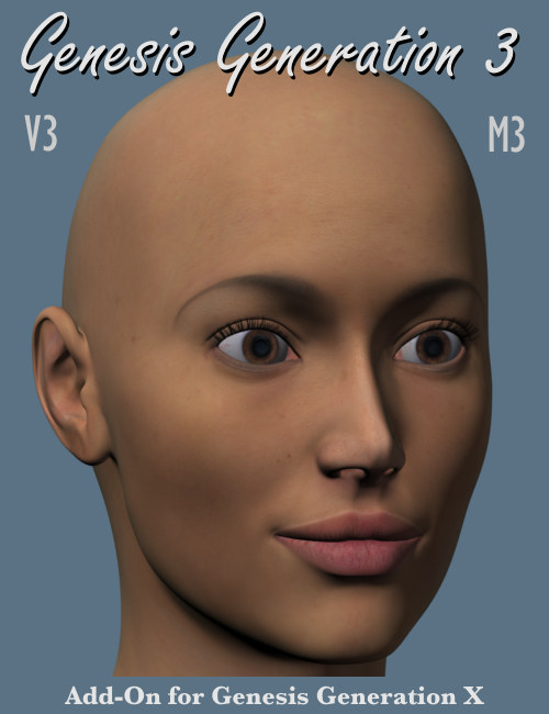 GenX AddOn Gen3 for  V3 and M3 by: Dimension3D, 3D Models by Daz 3D