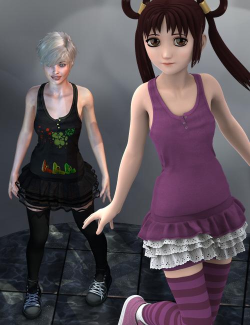 Kenzi Outfit  Bundle by: Mada, 3D Models by Daz 3D