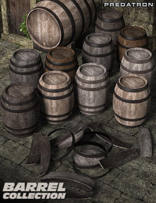 Barrel Collection by: Predatron, 3D Models by Daz 3D