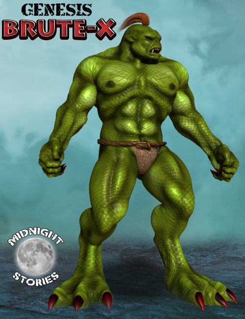 Brute X For Genesis by: midnight_stories, 3D Models by Daz 3D