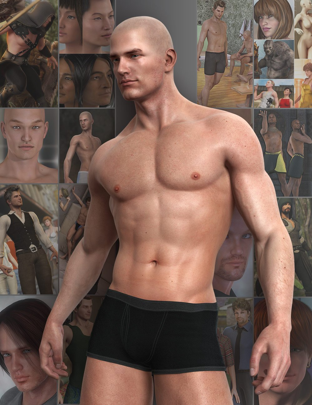 Michael 5 Pro Suite by: , 3D Models by Daz 3D