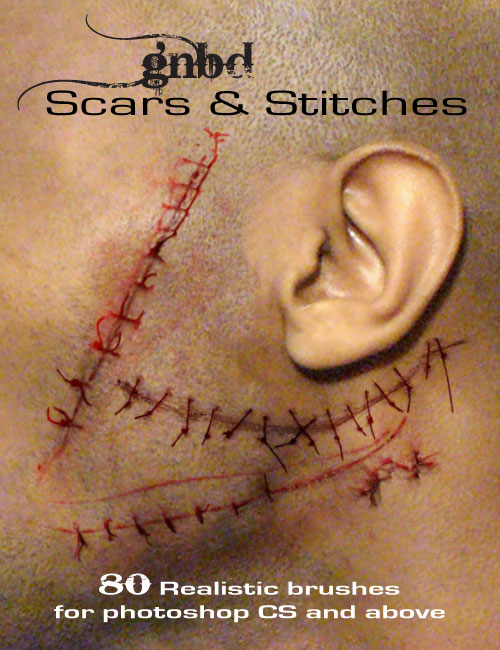 GNBD Scars & Stitches by: Giko, 3D Models by Daz 3D