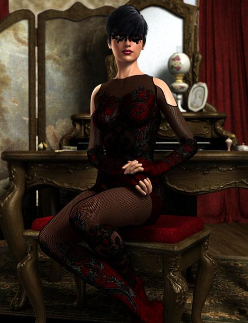 Mardi Gras Supersuit by: Ravnheart, 3D Models by Daz 3D