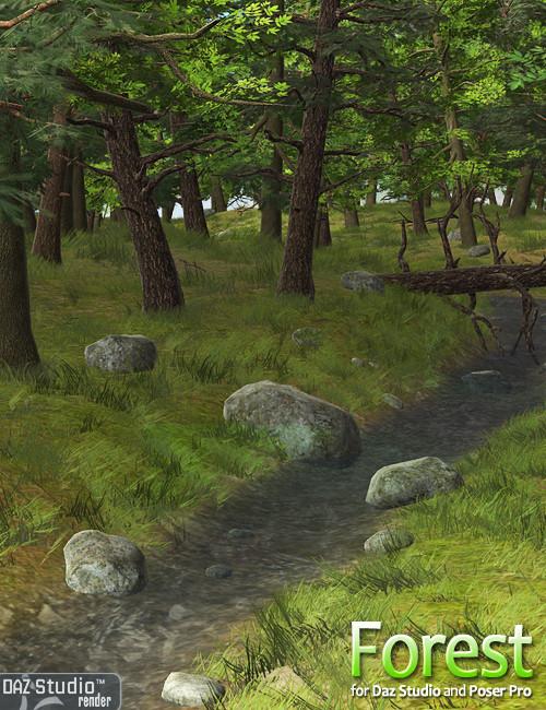 Forest by: Andrey Pestryakov, 3D Models by Daz 3D