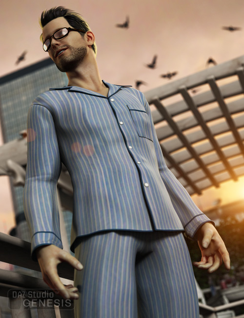 Pajamas for Genesis by: Ravenhair, 3D Models by Daz 3D