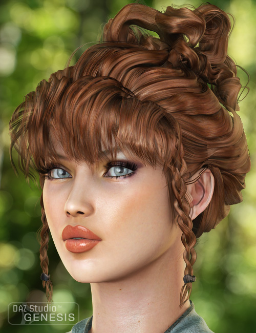 Lady Elf Hair for Genesis by: goldtassel, 3D Models by Daz 3D